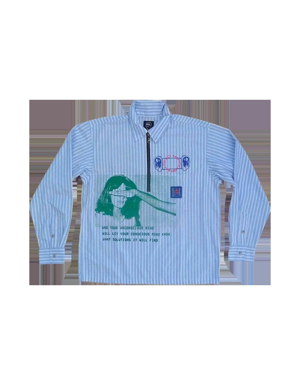 Brain Dead Half Zip Shirt