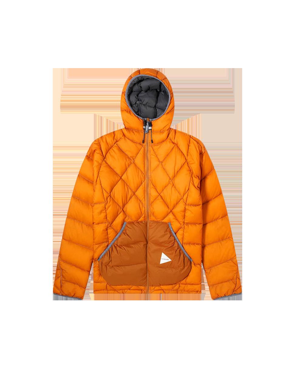 And Wander Diamond Stitch Jacket Orange